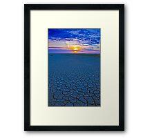 Cracked Sand Sunset Framed Print