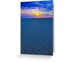 Cracked Sand Sunset Greeting Card