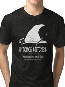 Witches Stitches H.A.G. Guild - White Design Tri-blend T-Shirt