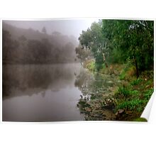 Fog on the Barwon River at Queens Park Poster