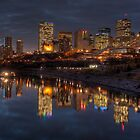 Cloudy evening over Edmonton, AB Canada by camfischer