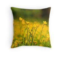 Buttercup Fields Throw Pillow