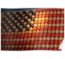 Stars and Stripes baseball style..... Poster
