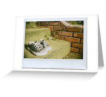 Fuzzy Green Stairs Greeting Card