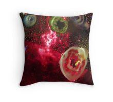Red Galaxie Throw Pillow