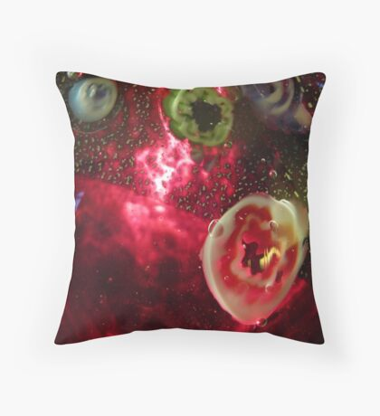 Red Galaxie Throw Pillow