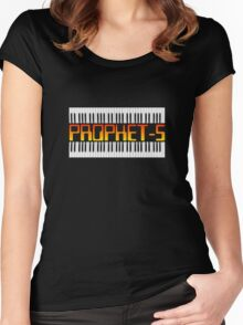 Old Synthesizer Prophet-5  Women's Fitted Scoop T-Shirt