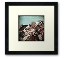 Surf on paper Framed Print