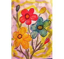 Summer flowers, watercolor Photographic Print