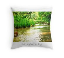 Hot Lazy Summer Days Throw Pillow