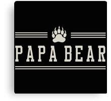 Papa Bear Dad Father gift Canvas Print