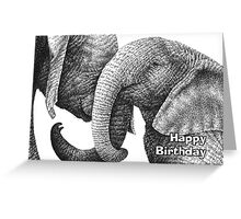 Young African Elephants Birthday Card Greeting Card