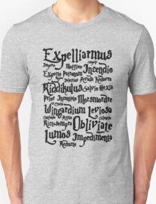 Harry Potter Spells, Magic Spelling Unisex T-Shirt