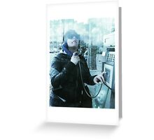 In the Phone Booth - Paris Greeting Card