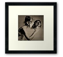 Paper Face in my mirror Framed Print