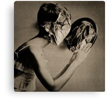Paper Face in my mirror Canvas Print