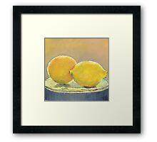 Orange & Lemon Framed Print