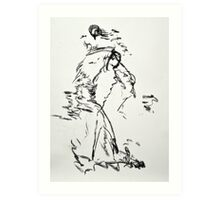 Lady with Hat Art Print