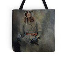 Silver Knight Tote Bag