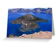 Wizard Island - Crater Lake, OR Greeting Card
