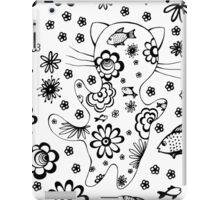 Cat with flowers and fish. iPad Case/Skin