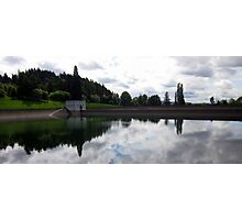 Reservoir One  with Clouds Photographic Print
