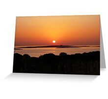 Paros Island, Greece - Tranquil Sunset Greeting Card