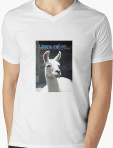 """LLama Tell Ya..."" Funny Llama Mens V-Neck T-Shirt"