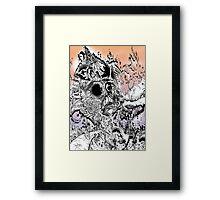 Monsteroso Comic book pen drawing 1 Framed Print