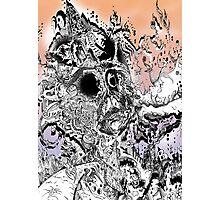 Monsteroso Comic book pen drawing 1 Photographic Print