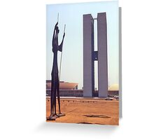 Parliament Buildings, Brasilia, Brazil, 1972. Greeting Card