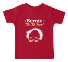 Bernie Hair Shirt with Flaming Sunglasses - Feel The Bern Kids Tee