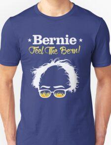 Bernie Hair Shirt with Flaming Sunglasses - Feel The Bern T-Shirt