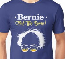 Bernie Hair Shirt with Flaming Sunglasses - Feel The Bern Unisex T-Shirt