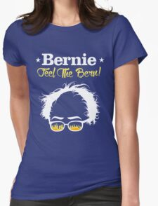 Bernie Hair Shirt with Flaming Sunglasses - Feel The Bern Womens Fitted T-Shirt