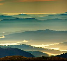 Misty blue ridges by Kevin McGennan