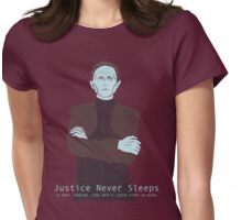 Justice Never Sleeps (Odo) Womens Fitted T-Shirt