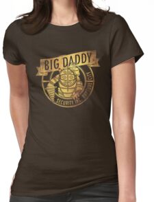 BigDaddy Security  -Gold with Texture Womens Fitted T-Shirt