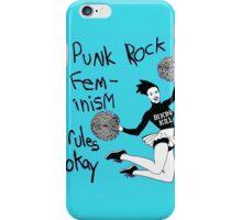 Bikini Kill Punk Rock Feminism Rules Okay! iPhone Case/Skin