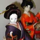 Japanese Dolls #1 by Marilyn Harris