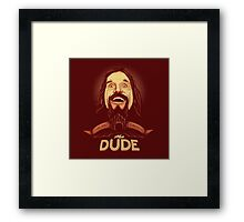 The Dude The big Lebowski Framed Print