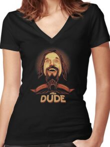 The Dude The big Lebowski Women's Fitted V-Neck T-Shirt