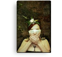 Girl with Toads Canvas Print