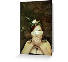 Girl with Toads Greeting Card