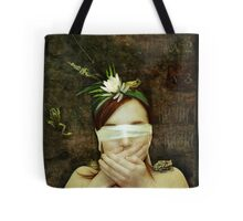 Girl with Toads Tote Bag