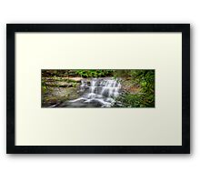 Waterfall In Motion Panorama Framed Print
