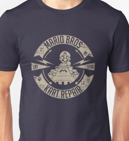 Mario Bros Kart Repairs Unisex T-Shirt