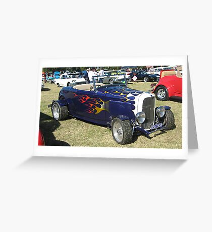 Dark Blue 1932 Ford Convertible. Greeting Card