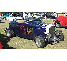 Dark Blue 1932 Ford Convertible. Photographic Print