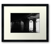 Water under the bridge ... Framed Print